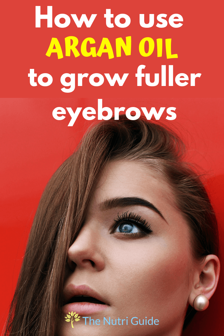 argan oil for eyebrows