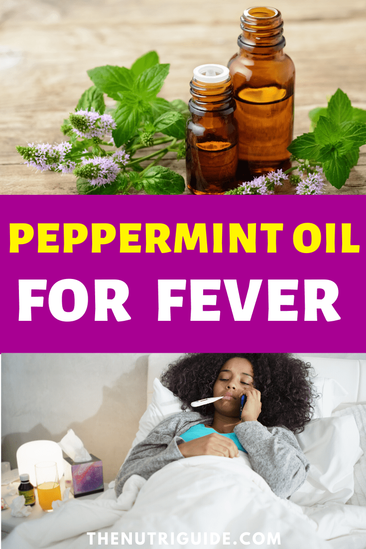 Peppermint oil for fever