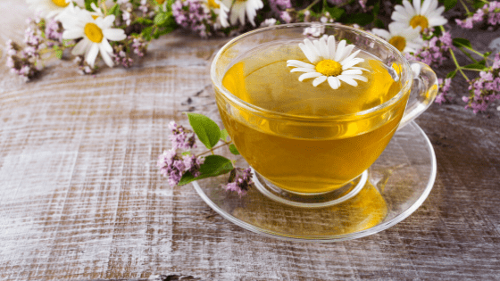 chamomile tea for anger and anxiety